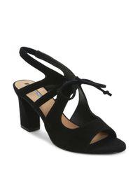 Tahari | Black Night Suede Sandals | Lyst