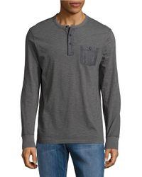 Lucky Brand | Gray Surf Long Sleeve Henley Shirt for Men | Lyst