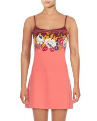 Free People | Pink On The Boarder Slip | Lyst