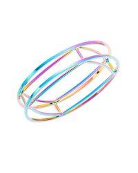 Trina Turk - Purple Geometric Bangle Bracelet - Lyst