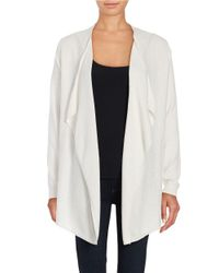 Lord & Taylor | White Mini Cable Knit Flyaway Cardigan | Lyst