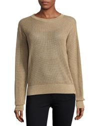 MICHAEL Michael Kors | Natural Button Sided Open Knit Sweater | Lyst