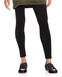 Eileen Fisher | Black Petite Solid Fitted Pants | Lyst