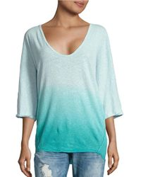 Free People | Blue Strawberry Ombre Knit Top | Lyst