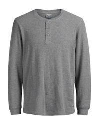 Jack & Jones   Gray Jorgeorge Thermal Henley Shirt for Men   Lyst