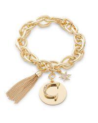 R.j. Graziano | Metallic G Initial Chain-link Charm Bracelet | Lyst