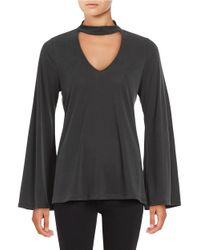 Lord & Taylor | Multicolor V-neck Long Sleeve Top | Lyst