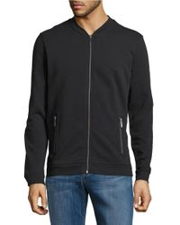 Strellson | Black Zip-front Sweater for Men | Lyst