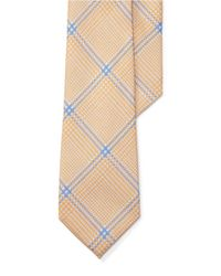Lauren by Ralph Lauren | Yellow Plaid Silk-linen Tie for Men | Lyst