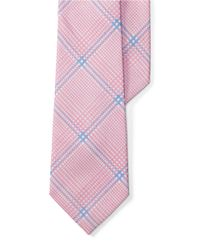 Lauren by Ralph Lauren | Pink Striped Cotton-silk Tie for Men | Lyst