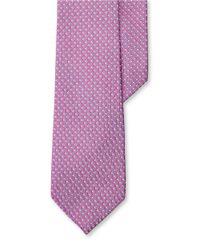 Lauren by Ralph Lauren | Pink Geometric Silk Jacquard Tie for Men | Lyst
