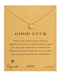 Dogeared - Metallic Gold Elephant Charm Necklace - Lyst