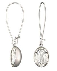 Swarovski - Metallic Puzzle Crystal Earrings - Lyst