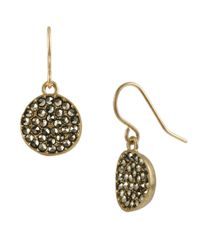 Kenneth Cole - Metallic Pave Circle Drop Earrings - Lyst