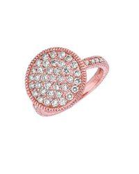 Morris & David - Multicolor Diamond Ring In 14 Kt. Rose Gold - Lyst