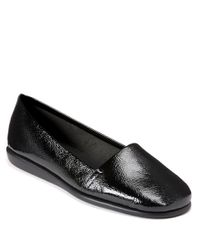 Aerosoles | Black Mr. Softee Leather Flats | Lyst