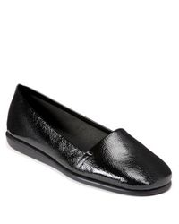 Aerosoles - Black Mr. Softee Leather Flats - Lyst