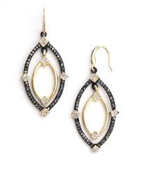 ABS By Allen Schwartz - Metallic Orbital Drop Earrings - Lyst