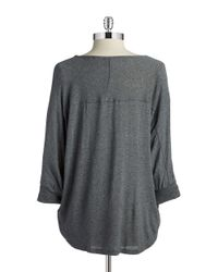 Splendid | Gray Dolman Sleeved Top | Lyst