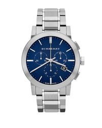 Burberry | Metallic Men's The City Chronograph Bracelet Strap Watch for Men | Lyst