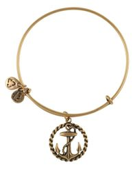ALEX AND ANI | Metallic Nautical Anchor Charm Bangle Bracelet | Lyst