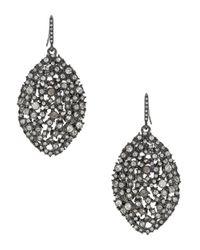 ABS By Allen Schwartz   Metallic Faceted Almond Drop Earrings   Lyst