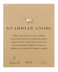 Dogeared | Metallic Guardian Angel Necklace | Lyst