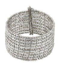 Kenneth Cole - Metallic Silvertone Seed Bead Coil Bracelet - Lyst