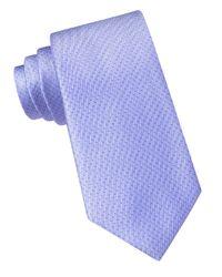 DKNY | Blue Silk Dotted Stripe Tie for Men | Lyst