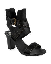Ash - Black Quantum Heeled Sandals - Lyst
