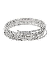 ABS By Allen Schwartz - Metallic Modern Pavé Wrap Bracelet Set - Lyst