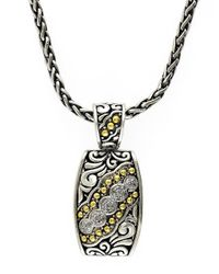 Effy - Metallic Balissima 18k Yellow Gold And Sterling Silver Diamond Pendant Necklace - Lyst