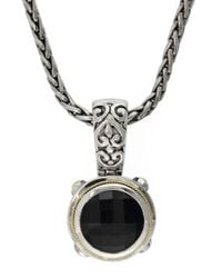 Effy - Black Balissima 18k Yellow Gold And Sterling Silver Onyx Pendant - Lyst