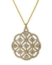 Effy   Metallic Diamond And 14k Yellow Gold Pendant Necklace, 2.08 Tcw   Lyst