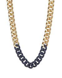 ABS By Allen Schwartz | Blue Chain-link Collar Necklace | Lyst