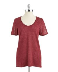 Lord & Taylor | Red Linen Pullover | Lyst