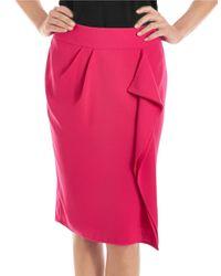 424 Fifth | Multicolor Plus Drape Front Pencil Skirt | Lyst