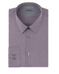 Calvin Klein | Purple Extreme Slim Fit Micro Check Dress Shirt for Men | Lyst
