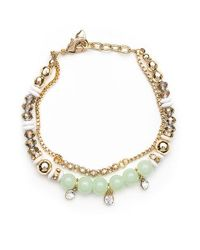 Lonna & Lilly | Metallic Soft Green And Goldtone Bead Bracelet | Lyst
