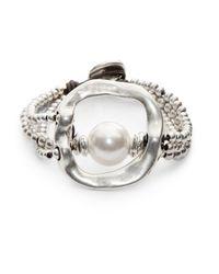 Uno De 50 | Metallic A Pearl Of Wisdom Bracelet | Lyst