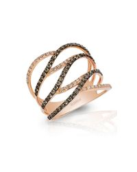 Effy | Pink Espresso 14k Rose Gold And Brown Diamond Ring | Lyst