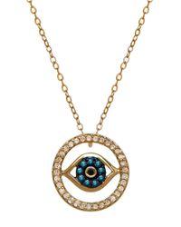 Lord & Taylor | Metallic 14k Gold Diamond Evil Eye Necklace | Lyst