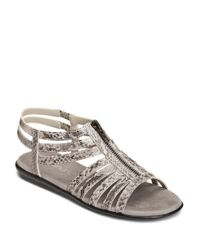 Aerosoles   Gray Clothesline Faux Leather Gladiator Sandals   Lyst