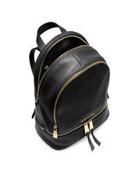 MICHAEL Michael Kors - Black Rhea Small Leather Backpack - Lyst