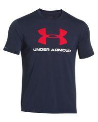 Under Armour | Blue Sportstyle Logo T-shirt for Men | Lyst