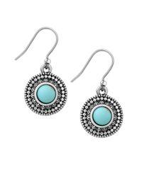 Lucky Brand - Metallic Jeweled Medallion Earrings - Lyst