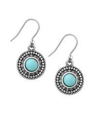 Lucky Brand   Metallic Jeweled Medallion Earrings   Lyst