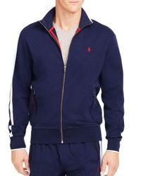 Polo Ralph Lauren - Blue Full-zip Interlock Track Jacket for Men - Lyst