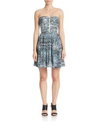 Guess   Black Abstract Print A-line Dress   Lyst
