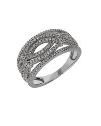 Lord & Taylor | Metallic Diamond And 14k White Gold Ring, 0.5tcw | Lyst